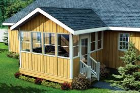 project plan 90034 three season porch with gable roof