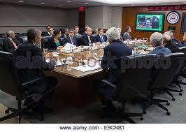 Barack Obama Cabinet Members President Barack Obama In The Secure Teleconference Room At