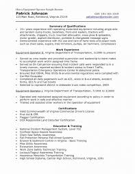 exle of a great resume heavy equipment operator resume construction equipment operator