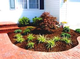 Country Backyards Landscape Simple Landscaping Ideas Using Mulch For Country Home