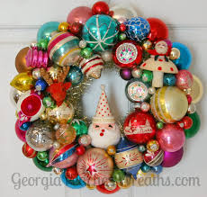 beautiful vintage ornament wreaths at the wreath blog by georgia