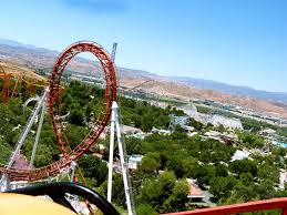 Viper Roller Coaster Six Flags Viper Six Flags Magic Mountain Mapio Net
