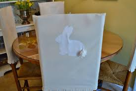 paper chair covers blue ribbon kitchen adorable bunny chair covers for easter