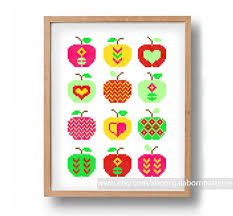farmers market inspired cross stitch patterns