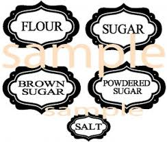flour sugar canister labels these labels are for canisters