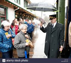 polar express christmas train ride conductor rob payette at the