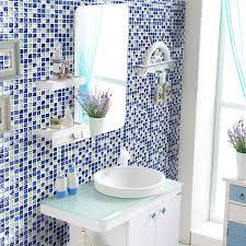 Mirrored Bathroom Wall Tiles - bathroom wall mosaics sea blue glass backsplash mirror design