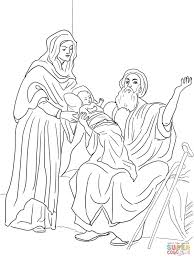 baby jesus in the temple coloring page free printable coloring pages