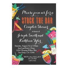 couples wedding shower invitations stock the bar couples wedding shower invitation zazzle