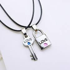 valentines necklace 2 pcs key lock necklaces s fashion pendants
