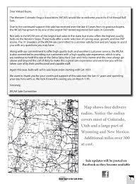 Western Colorado Map by Western Colorado Angus Association