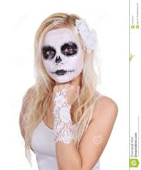 Skeleton Makeup For Halloween by Skull Makeup On Young Stock Photography Image 27410312
