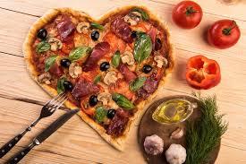 amour de cuisine pizza nourriture italienne romantique de dîner de restaurant de jour du