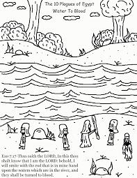 ten plagues coloring kids coloring