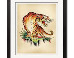 sailor jerry vintage cowgirls flash poster print