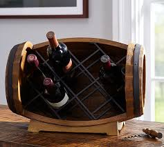 barrel tabletop wine rack pottery barn