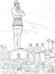 daniel u0027s friends refused to worship the statue coloring page