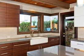 Wood Veneer Kitchen Cabinets Mid Century Remodeled But Preserved San Diego Custom Building