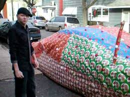 car wrapping paper car wrapped in christmas wrapping paper eric becker shenandoah
