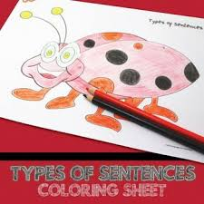 parts of a sentence coloring sheet a sentence sentences and