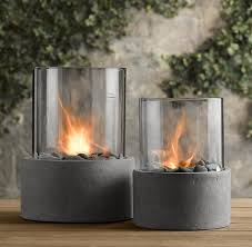 Restoration Hardware Fire Pit by If You Don U0027t Have The Budget For A Sleek Outdoor Fireplace Try