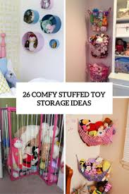 Toy Storage Ideas 26 Comfy Stuffed Toys Storage Ideas Shelterness