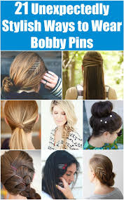 decorative bobby pins 21 unexpectedly stylish ways to wear bobby pins diy crafts
