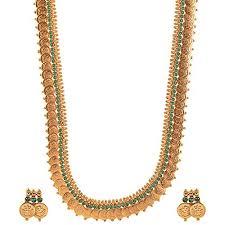 Buy Kasu Mala Lakshmi Ji Chic Picks By Vinti Laxmi Ji Rani Haar Basic Emerald Temple