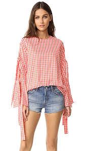 style blouse style mafia gingham blouse shopbop