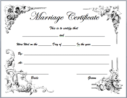marriage certificate template microsoft word templates
