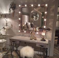 Mirrored Furniture For Bedroom by Bedroom Elegant White Makeup Vanity Set With Lights For Nice
