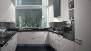 kitchen design amusing black white modern small space kitchen