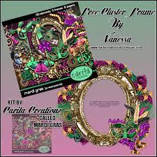 mardi gras frames leatherandlaceads mardi gras free cluster frame