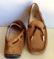 ugg moccasin slippers sale ugg womens tie bow moccasin suede driving shoes
