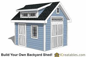 Diy Garden Shed Design by 10x16 Shed Plans Diy Shed Designs Backyard Lean To U0026 Gambrel