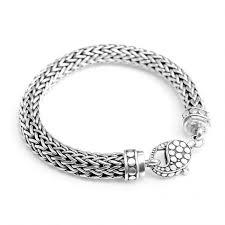 sterling bracelet clasp images Sterling silver bali weave dotted lobster clasp bracelet 10mm 9 jpg