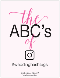 wedding hashtag abc u0027s an alphabet of alliterations the favor