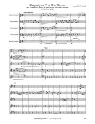 Bonny Blue Flag Rhapsody On Civil War Themes Saxophone Quintet U2013 Whichpond Music