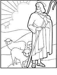 jesus good shepherd coloring pages coloring print jesus