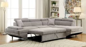 adjustable sectional sofa foreman contemporary style gray flannelette fabric pull out