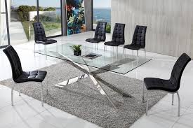 Appealing Contemporary Glass Dining Tables And Chairs  For - Glass dining room tables