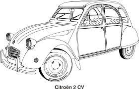 free vector graphic car car drawing cars citroen free image