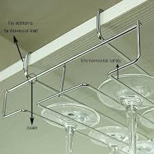 under cabinet wine glass stemware rack holder wire hanging rack
