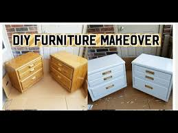 How To Repaint A Nightstand Diy Extreme Furniture Makeover How To Paint Without Priming And