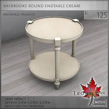 cream round end table the baybrooke bedroom collection for fameshed september trompe loeil