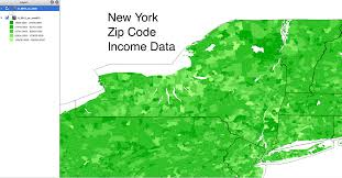 Zip Code Map New York by Where To Find The Most Current Us Zip Code Income Data Cubit U0027s Blog