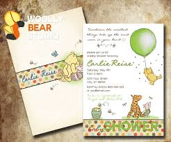 winnie the pooh baby shower classic winnie the pooh baby shower invitations cloveranddot