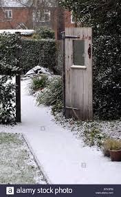 hill close gardens in winter warwick warwickshire england uk