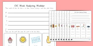 cvc words handwriting worksheets new zealand nz new zealand