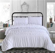 Ruched Bedding Popular White Grey Comforter Buy Cheap White Grey Comforter Lots